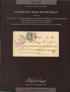 Confederate States Postal History featuring the Peter W.W...