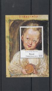 Palau 2012 MNH Christmas 1v S/S Jesus Boy Albrecht Durer Art Paintings Stamps