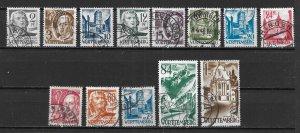 Germany 8N1-8N13 Occupation Stamps set Used (z2)