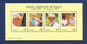 NAMIBIA - SG MS789  - FVF MNH  S/S - Princess Diana - 1997