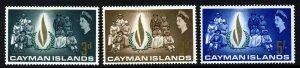 CAYMAN ISLANDS QE II 1968 Human Rights Year Set SG 209 to SG 211 MINT
