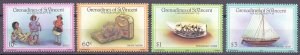 Saint Vincent and the Grenadines. 1986. 479-82. Sailboat Toys. MNH.