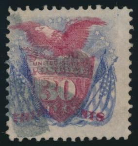 #121 30c FINE USED WITH CORNER CREASE CV $400 AU859