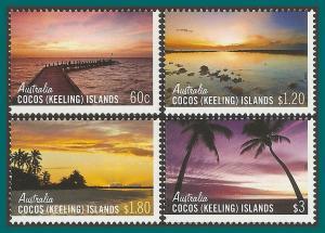 Cocos 2012 Sunrises Sunsets, MNH 361-364,SG471-SG474