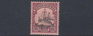 GERMAN EAST AFRICA  1901  S G 21  25P  BLACK &  PURPLE     MNH  NO2