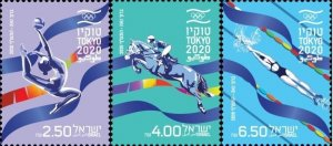 Israel 2021 MNH Stamps Sport Summer Olympic Games Tokyo Gymnastic Swimming Horse