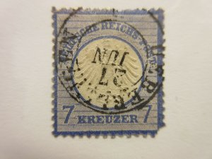 GERMANY  Scott  10  Faults (Thin & Corner)  USED  LotS  Cat $85