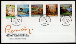 Jersey 264-268 Paintings U/A FDC