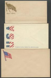 (6) DIFFERENT UNLISTED UNION CIVIL WAR PATRIOTIC COVERS BS3780