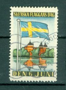 Sweden Poster Stamp 1937. National Day June 6. Swedish Flag. Cancel