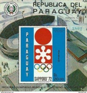 SW2118 - Paraguay -  WINTER Olympic Games - OSAKA SAPPORO 1970  - Minisheet MNH