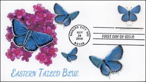 SC 5136, 2016, Eastern Tailed Blue, Butterfly, BW Cancel, FDC, 16-305