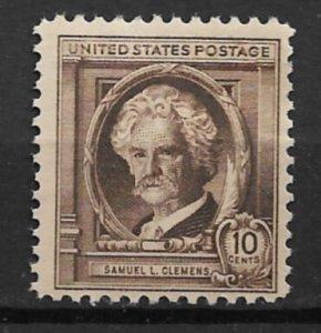 1940 Sc863 10¢ Samuel Clements MNH