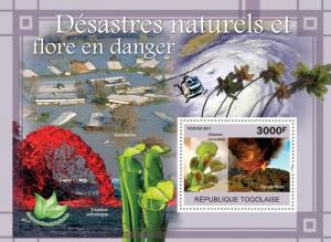 Togo MNH S/S Natural Disasters Endangered Flora 2011