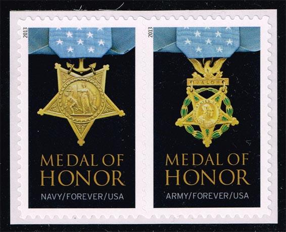 US #4823a Medals of Honor Pair; MNH (1.90)