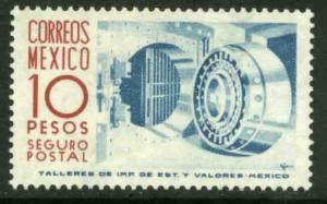 MEXICO G19, $10Pesos 1950 Definitive 2nd Printing wmk 300. MINT, NH. VF.