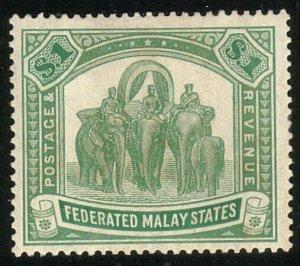 MALAYA FMS 1922 $1 SG76 fine mint lightly hinged...........................10495