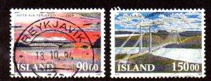 ICELAND 766-7 USED SCV $3.85 BIN $1.55 BRIDGES