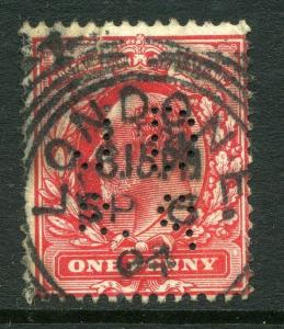 BRITAIN;  Early 1900s Ed VII issue fine used 1d. value + fine POSTMARK