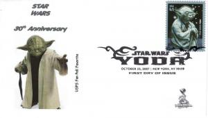 Star Wars/Yoda FDC from Toad Hall Covers!  (#2B)
