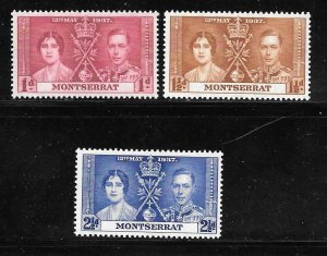 Montserrat 89-91: King George VI and Queen Elizabeth, MH, F-VF