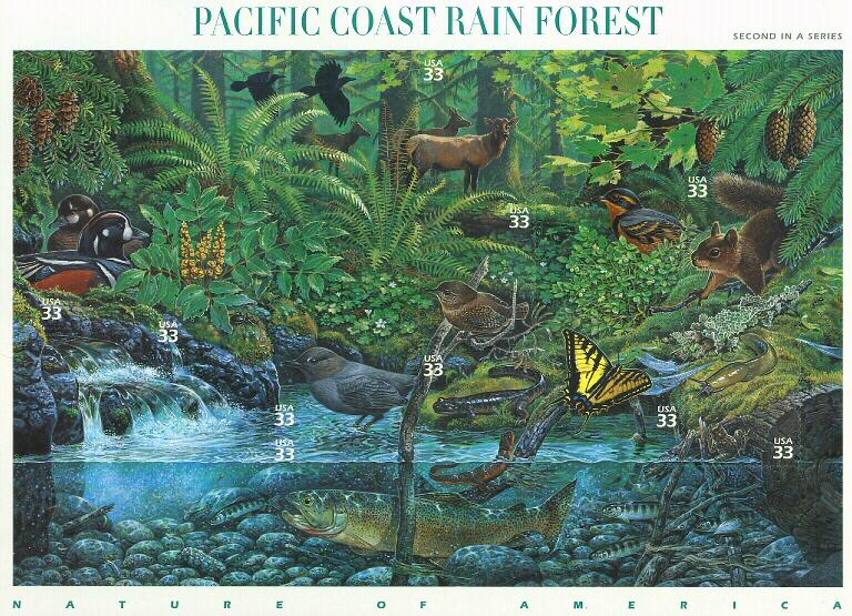 2000 sheet Pacific Coast Rain Forest Sc# 3378