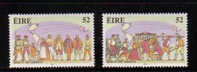 Ireland Sc 866-7 1992 Irish in America stamp set mint NH