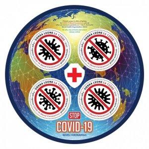 SIERRA LEONE - 2020 - Stop COVID-19 -Perf 4v Sheet - Mint Never Hinged