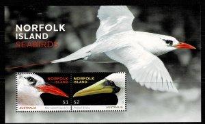 Norfolk Island  2016 Seabirds MNH M/s