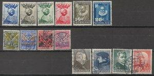 COLLECTION LOT # 5695 NETHERLANDS 14 MOSTLY SEMI POSTAL STAMPS 1927+ CV+$23