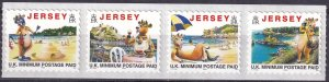 Jersey #786f-789g  MNH Strip Of 4 CV $25.00 (Z3499L)