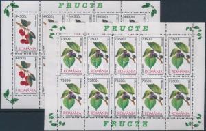 Romania stamp Fruits mini sheet set 2002 MNH Mi 5694-5697 WS189320