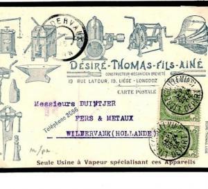 F263 Belgium Illustrated Advert Card1905 {samwells}