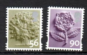 Great Britain England Sc 19-20 2009 56p tree & 90p rose stamp set mint NH