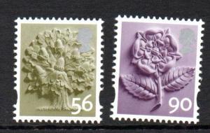 Great Britain England Sc 19-20 2009 56p tree & 90p rose stamp set mint NH