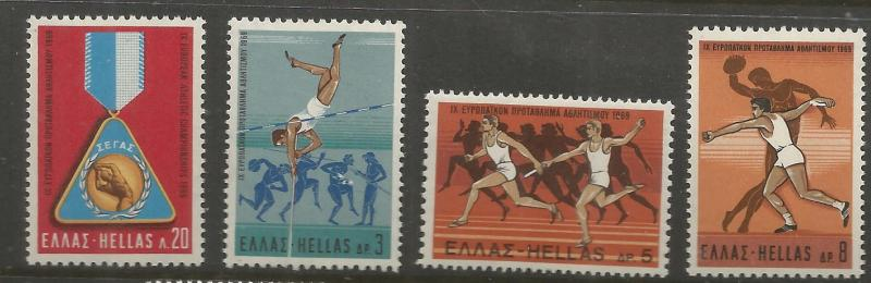 GREECE 949-952  MNH,  EUROPA ISSUE, 1969