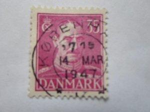 DENMARK STAMP. USED. NO HINGE MARK # 12