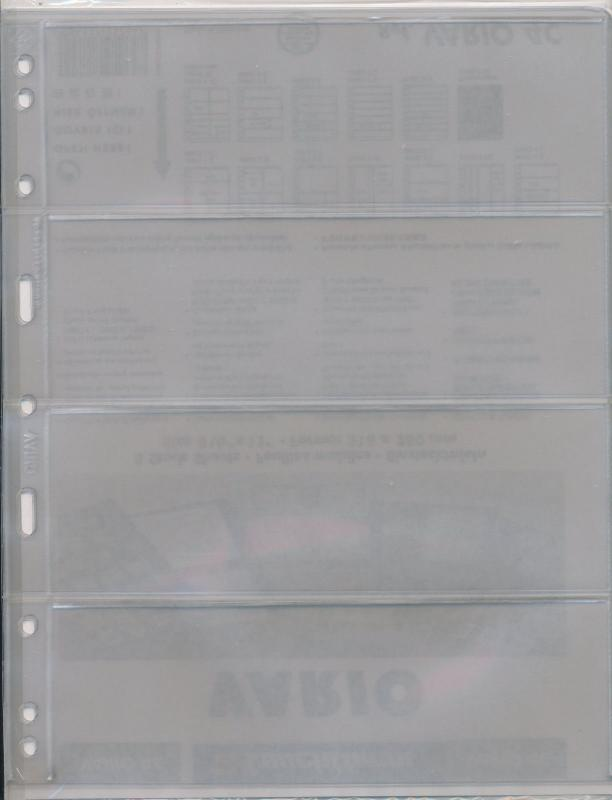 25 LIGHTHOUSE VARIO 4C CLEAR STOCK SHEETS 5 PACKAGES OF 5