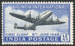 INDIA-1948 12a Air Sg 304 UNMOUNTED MINT V42307