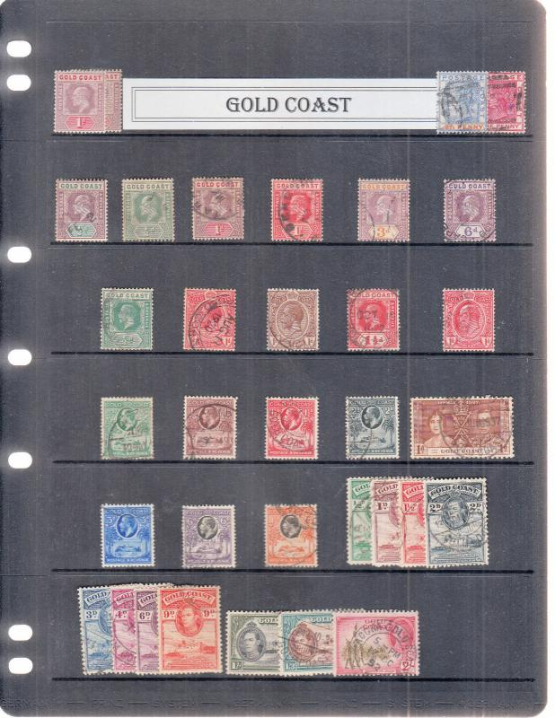 GOLD COAST STOCK PAGE VICTORIA-GEORGE 6TH MINT/USED