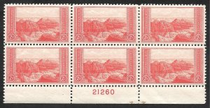 Doyle's_Stamps: 1934 2-cent National Parks Grand Canyon PNB Scott  #741**