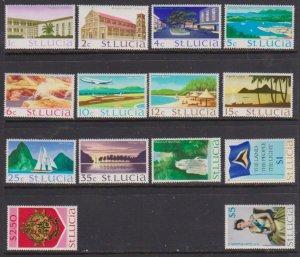 1970-1973 St. Lucia Scott # 261-274 Queen & Views MNH short set