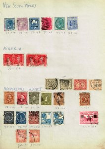 NEW SOUTH WALES, NIGERIA, NI STAMP USED  STAMPS ON PAGE COLLECTION LOT