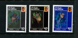 Brunei 417-419, MNH, Animals 1990. x22756