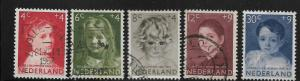NETHERLANDS, B316-B320, USED, SURTAX FOR CHILD WELFARE