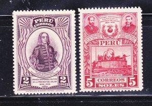 Peru 349-350 MH Various