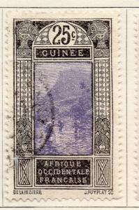 French Guinea 1917 Early Issue Fine Used 25c. 105935