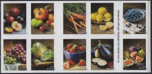 US 5484-5493 5493a Fruits & Vegetables forever block set (10 stamps) MNH 2020