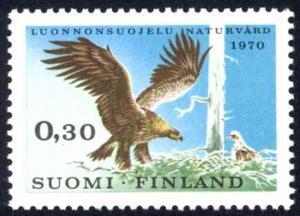 Finland Sc# 490 MH 1970 30p Golden Eagle