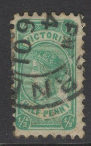 VICTORIA SG384 1901 ½d BLUE-GREEN USED